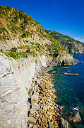 Tunnel on the Via dell'Amore (The Way of Love), Riomaggiore, Cinque Terre, Liguria, Italy
