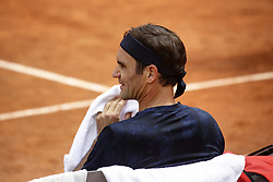 May 23, 2019 - Paris, France - Roger Federer during a training session preparing for Roland Garros finals, in Paris, France, on May 23, 2019. (Credit Image: © Ibrahim Ezzat/NurPhoto via ZUMA Press)
