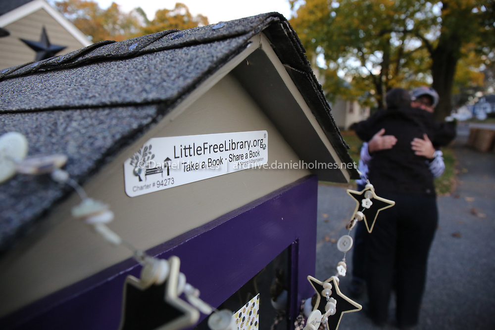 (11/3/19, FRAMINGHAM, MA) The Little Free Library on McPhee Rd. in Framingham on Sunday. [Daily News and Wicked Local Photo/Dan Holmes]