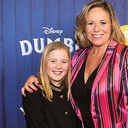 NLD/Amsterdams/20190326 - Filmpremiere Dumbo, Selma van Dijk en dochter Noor