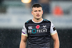 Scott Williams of Ospreys<br /> <br /> Photographer Simon King/Replay Images<br /> <br /> Guinness PRO14 Round 6 - Ospreys v Southern Kings - Saturday 9th November 2019 - Liberty Stadium - Swansea<br /> <br /> World Copyright © Replay Images . All rights reserved. info@replayimages.co.uk - http://replayimages.co.uk
