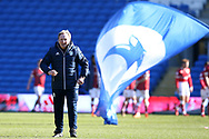 Neil Warnock, the Cardiff city manager looks on at the  end of the match.  EFL Skybet championship match, Cardiff city v Bristol city at the Cardiff city stadium in Cardiff, South Wales on Sunday 25th February 2018.<br /> pic by Andrew Orchard, Andrew Orchard sports photography.