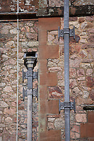 lead drainpipes and downspouts at Muncaster Castle