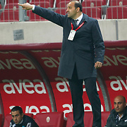 Kasimpasaspor's coach Fuat CAPA during their Turkish Super League soccer match Galatasaray between Kasimpasaspor at the TT Arena at Seyrantepe in Istanbul Turkey on Monday 09 May 2011. Photo by TURKPIX