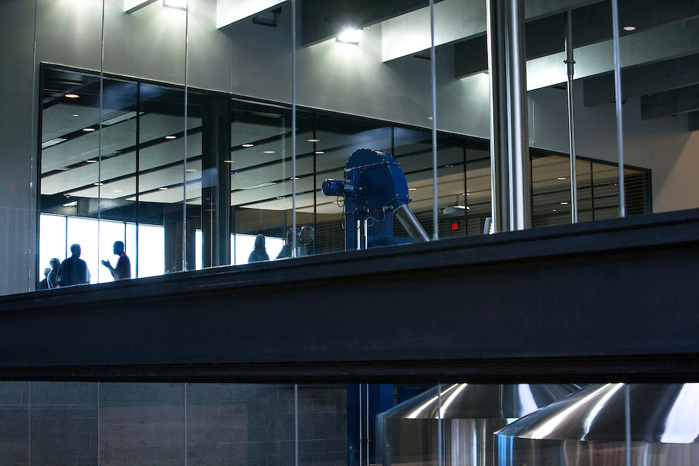 A private event space overlooks the brew tanks at Surly Brewing Co. in Minneapolis, MN, May 15, 2015.