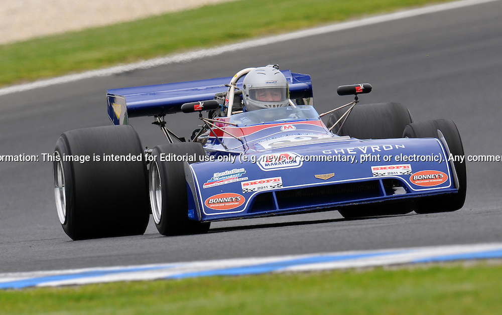Greg Thornton - Chevron B24 - Formula 5000.Historic Motorsport Racing - Phillip Island Classic.18th March 2011.Phillip Island Racetrack, Phillip Island, Victoria.(C) Joel Strickland Photographics.Use information: This image is intended for Editorial use only (e.g. news or commentary, print or electronic). Any commercial or promotional use requires additional clearance.