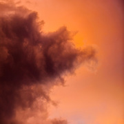 Colorful sunset and storm clouds