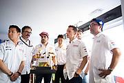 June 10-16, 2019: 24 hours of Le Mans. 7 TOYOTA GAZOO RACING, TOYOTA TS050 - HYBRID,  Mike CONWAY, Kamui KOBAYASHI, Jose Maria LOPEZ, 8 TOYOTA GAZOO RACING, TOYOTA TS050 - HYBRID, Sébastien BUEMI, Kazuki NAKAJIMA, Fernando ALONSO, Toshio Sato, Toyota TMG President ,Rob Luepen, Toyota Team Director