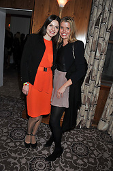Left to right, SVITLANA KOZLYUK and SABINE ROEMER at the launch of Whole World Water at The Savoy Hotel, London on 22nd March 2013.