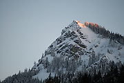 Last Sunlight On Mt. Hough, Indian Valley, Sierra Nevada Mountains, California, 2011 by David Leland Hyde.