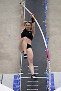 Morgan LeLeux Romero places seventh in at 13-7 1/4 (4.15m) in the elite women's competition during the National Pole Vault Summit, Friday, Jan. 17, 2020, in Reno, Nev.