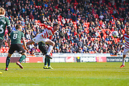 Matty Blair of Doncaster Rovers (17) in action during the EFL Sky Bet League 1 match between Doncaster Rovers and Plymouth Argyle at the Keepmoat Stadium, Doncaster, England on 13 April 2019.