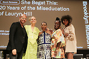 BROOKLYN, NEW YORK- AUGUST 9: (L-R) Writers & Editors Emil Wilbekin, Michaela Angela, Joan Morgan, Dr. Yaba Blay and Kierna Mayo attend the book release for ' She Begat This: 20 Years of The Miseducation of Lauryn Hill' by Joan Morgan which examines the the artist's musical and cultural legacy held August 9, 2018 at the Brooklyn Museum.  (Photo by Terrence Jennings/terrencejennings.com)