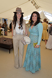 Left to right, VANESSA BUSTAMANTE and DANIELLA HELAYEL at the St.Regis International Polo Cup at Cowdray Park, Midhurst, West Sussex on 16th May 2015.