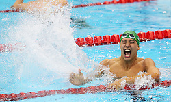 File photo dated 31-07-2012 of South Africa's Chad le Clos celebrates after winning Men's 200m Butterfly Final