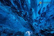 Crystal Ice Cave under Vatnajökull Glacier in south Iceland