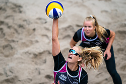 Alexandra Jupiter FRA in action during the last day of the beach volleyball event King of the Court at Jaarbeursplein on September 12, 2020 in Utrecht.