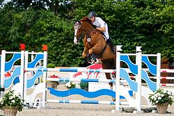 08, Youngster-Springprfg. Kl. M* 6-8j. Pferde,, Ehlersdorf, Reitanlage Jörg Naeve, 15. - 18.07.2021, Markus Brose (GER), Quintero Palermo,