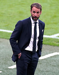 England manager Gareth Southgate during the UEFA Euro 2020 Group D match at Wembley Stadium, London. Picture date: Tuesday June 22, 2021.