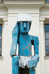 Sculpture outside Hamburger Bahnhof Art Museum in Berlin Germany