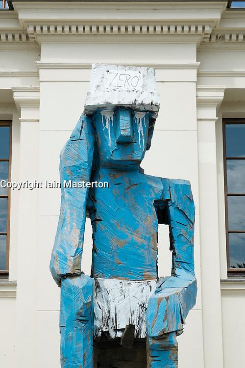 Sculpture outside Hamburger Bahnhof Art Museum in Berlin Germany