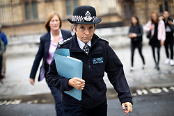 © Licensed to London News Pictures. 24/09/2019. London, UK. Commissioner of the Metropolitan Police Service Cressida Dick walking through Westminster. Photo credit : Tom Nicholson/LNP