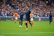 Olivier Giroud (FRA) scored a goal and celebrated it, Kylian Mbappe (FRA) during the UEFA Nations League, League A, Group 1 football match between France and Netherlands on September 9, 2018 at Stade de France stadium in Saint-Denis near Paris, France - Photo Stephane Allaman / ProSportsImages / DPPI
