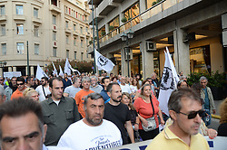 ATHENS, GREECE - MAY 30, 2017 - Demonstration in Athens of municipal employees against further austerity measures. (Photo by George Panagakis/Pacific Press) *** Please Use Credit from Credit Field ***