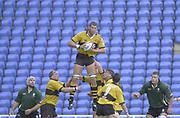 Photo Peter Spurrier<br /> 29/09/02   ZURICH PREMIERSHIP RUGBY<br /> London Irish vs Wasps<br /> Simon Shaw Madejski Stadium, Reading Berkshire, [Mandatory Credit: Peter Spurrier/Intersport Images]