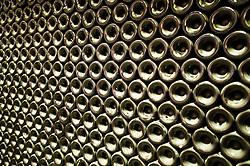 Dec. 04, 2012 - Stack of wine bottles, full frame (Credit Image: © Image Source/ZUMAPRESS.com)