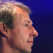 US Men's National Team Head Coach Jurgen Klinsmann at the teams media conference at the Marriott Marquis, Times Square, New York,  USA. 30th May 2014. Photo Tim Clayton