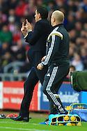 Manager of Sunderland, Gus Poyet gestures - Sunderland vs. Everton - Barclay's Premier League - Stadium of Light - Sunderland - 09/11/2014 Pic Philip Oldham/Sportimage