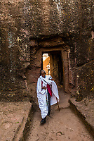 Debre Sina Mikael (Church of St. Michael), one of 11 rock hewn medieval monolithic churches in  Lalibela, Ethiopia.