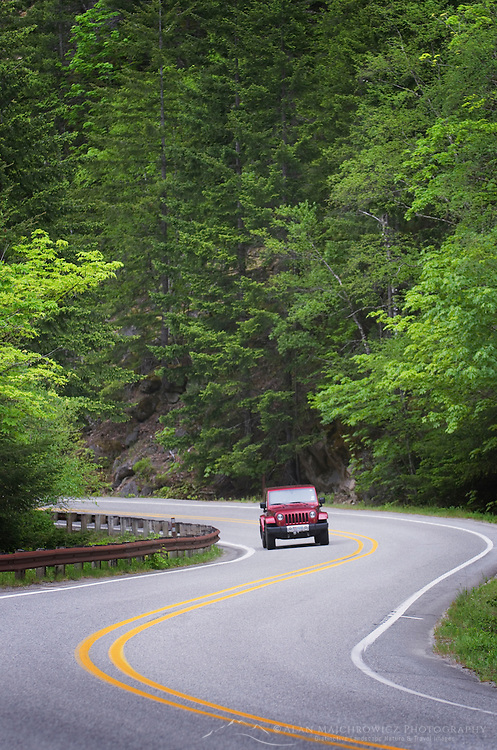 North Cascades Highway, State Route 20, in the Skagit River Gorge, Washington
