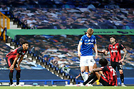 Bournemouth players dejected after being relegated  during the Premier League match between Everton and Bournemouth at Goodison Park, Liverpool, England on 26 July 2020.