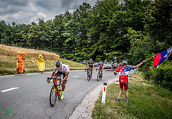 Enrico Salvador (ITA) of Tirol Cycling Team during Stage 2 of 24th Tour of Slovenia 2017 / Tour de Slovenie from Ljubljana to Ljubljana (169,9 km) cycling race on June 16, 2017 in Slovenia. Photo by Vid Ponikvar / Sportida
