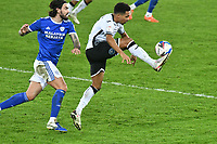 Football - 2020 / 2021 Sky Bet Championship - Swansea City vs Cardiff City - Liberty Stadium<br /> <br /> Jamal Lowe Swansea City on the attack in the South Wales local derby match<br /> <br /> COLORSPORT/WINSTON BYNORTH