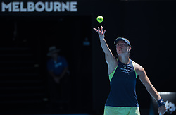 MELBOURNE, Jan. 22, 2018  Angelique Kerber of Germany serves during the women's singles fourth round match against Hsieh Su-wei of Chinese Taipei at Australian Open 2018 in Melbourne, Australia, Jan. 22, 2018. Kerber won 2-1. (Credit Image: © Zhu Hongye/Xinhua via ZUMA Wire)