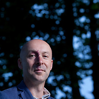 Christopher Brookmyre, the Scottish novelist and crime writer, at the Edinburgh International Book Festival 2015.<br /> Edinburgh. 31st August 2015<br /> <br /> Photograph by Gary Doak/Writer Pictures<br /> <br /> WORLD RIGHTS