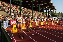womens 200 meters, start, Shannon Hylton, Great Britain,