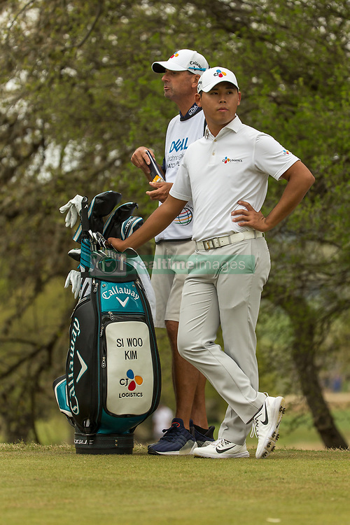 March 23, 2018 - Austin, TX, U.S. - AUSTIN, TX - MARCH 23:  Si Woo Kim waiting to tee off during the WGC-Dell Technologies Match Play Tournament on March 22, 2018, at the Austin Country Club in Austin, TX.  (Photo by David Buono/Icon Sportswire) (Credit Image: © David Buono/Icon SMI via ZUMA Press)