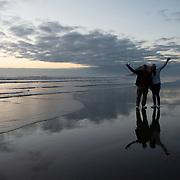 Arcadia Beach at sunset. Oregon.