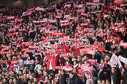 October 29, 2017 - Lille, France - ILLUSTRATION - SUPPORTERS - ECHARPES (Credit Image: © Panoramic via ZUMA Press)