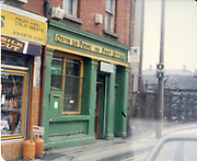 Old amateur photos of Dublin streets churches, cars, lanes, roads, shops schools, hospitals January 1992 north strand post office