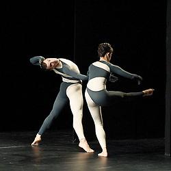 Nearly Ninety<br /> The Merce Cunningham Dance Company <br /> choreography by Merce Cunningham<br /> at The Barbican Theatre, London, Great Britain <br /> rehesrsal <br /> 26th October 2010 <br /> <br /> <br /> Brandon Collwes<br /> Emma Desjardins<br /> <br /> <br /> Photograph by Elliott Franks<br /> 2010©Elliott Franks