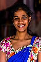 Young Sri Lanka woman, Kandy, Central Province, Sri Lanka.