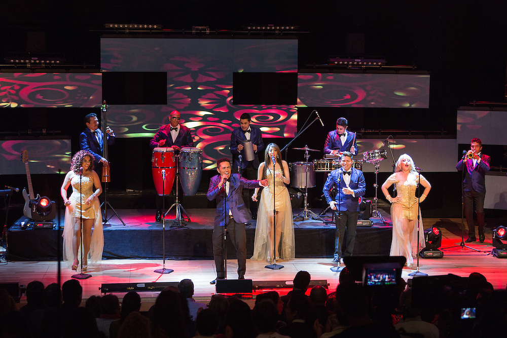 Mexico, D.F. 29/06/2015. Centro Cultural Roberto Cantoral. Grabacion del material musical de La Sonora Dinamita. La Sonora Dinamita.
