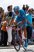 France - Tuesday, Jul 08 2008:  Jérôme Pineau (Fra) Bouygues Telecom finished in 60th place on stage 4, 2' 38'' down on the winner Stefan Schumacher. The stage was a 29.5 km time trial starting and ending in Cholet.    (Photo by Peter Horrell / http://www.peterhorrell.com)