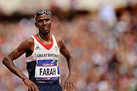 LONDON OLYMPIC GAMES 2012 - OLYMPIC STADIUM , LONDON (ENG) - 08/08/2012 - PHOTO : POOL / KMSP / DPPI<br /> ATHLETICS - MEN'S 5000 M - MO FARAH (GBR)