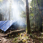 Research Camp, Gunung Bondang Expedition to Gunung Bondang Mountain, Murang Raya, Central Kalimantan, Indonesia. Run by The Heart of Borneo Rainforest Foundation.